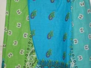 Peppermint Bay halter bandana paisley blue green cruise womens dress