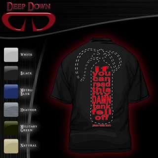 Deep Down Tank Fell Off Black Shirt Size XXL