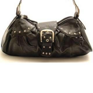 Designer Inspired Black Handbag Purse Hand Bag Tote NEW