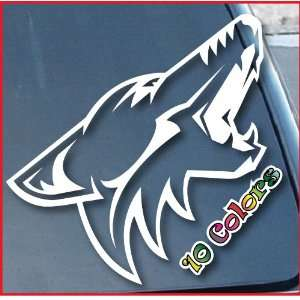 Phoenix Coyotes Car Window Vinyl Decal Sticker 7 Tall (Color White)