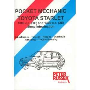 Toyota Starlet 1E and 2E Engines (9780907779681) Peter Russek Books