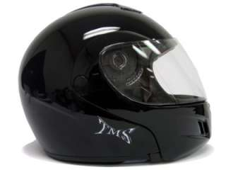 FLIP UP MODULAR MOTORCYCLE SNOWMOBILE HELMET BLACK ~M
