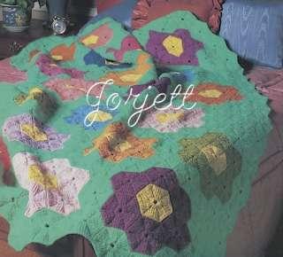 Annie's Attic, Grandma's Flower Garden Crochet Pattern, Quilt