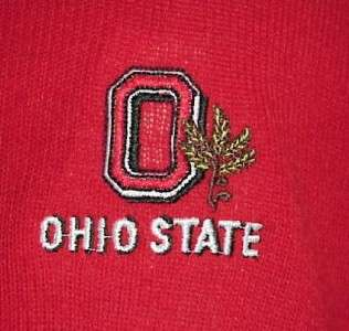 ViNTaGe CHAMPION RED OHIO STATE V NECK SWEATER XL