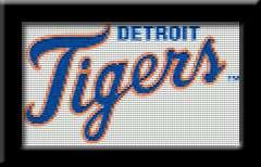 DETROIT TIGERS LOGO   Cross Stitch Patterns/Kits