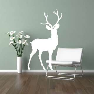 Deer/Stag With Antlers Standing Wildlife Vinyl Wall Sticker/Decal A17
