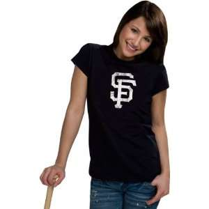 San Francisco Giants Womens Distressed Ink My Team Tee