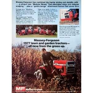 1977 Ad Massey Ferguson Lawn Garden Tractor Mower Des Moines Toronto