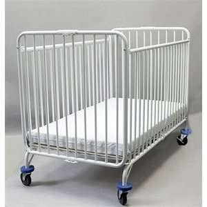 53 x 30 x 40 1/2 Full Size Metal Folding Crib with 4 Casters Baby