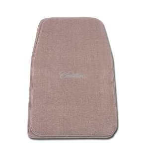 Beige Universal Fit Front Two Piece Floormat with GM Silver CADILLAC