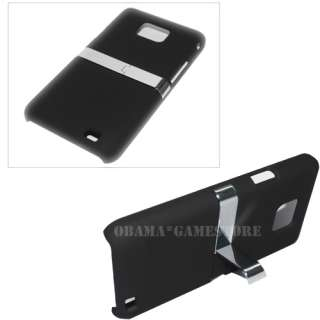 Black Chrome Hard Cover Stand Back Case For Samsung i9100 Galaxy S2 II