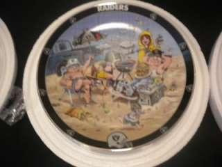 Oakland Raiders Danbury Mint Collector Plate Collection