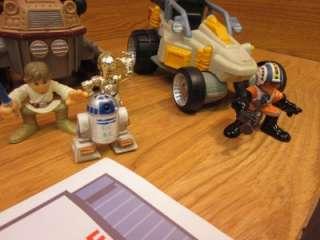Star Wars Galactic Heroes Lot 7 Ships & 10 Figures VGC Loose