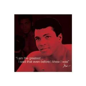 Muhammad Ali The Greatest Quote Boxing Sports Poster 16 x