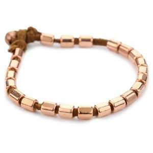 Vanessa Mooney Copper Bullet Bead Bracelet On Rust Faux