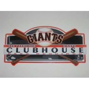 SAN FRANCISCO GIANTS 19 x 8 Plastic CLUBHOUSE LOCKER