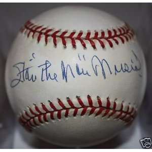Stan Musial Signed Ball   x ONL Kit Young: Sports