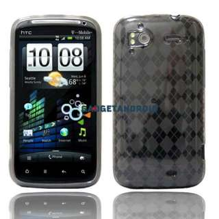 NEW 10IN1 BLACK CASE BATTERY CHARGER LCD FILM GUARD FOR HTC SENSATION