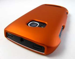 ORANGE RUBBERIZED HARD SHELL CASE COVER NOKIA LUMIA 710 TMOBILE PHONE