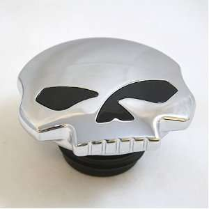BKRider Skull Non Vented Gas Cap Left Side For Harley