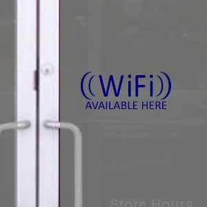 StikEez Blue Small WiFi Available Here Window & Wall Decal