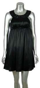 Lbd Laundry by Design Short Satin Embellished Dance Dress Black