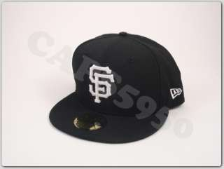San Francisco Giants New Era Fitted Hat 5950 Cap Black