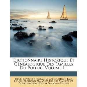 Filleau, Charles Chergé, Paul Henri Ferdinand Beauchet Filleau: Books