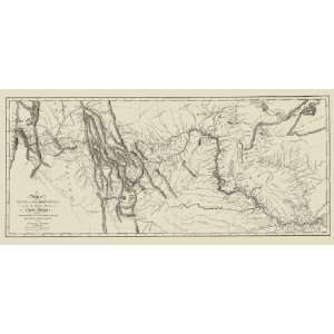 LEWIS AND CLARKS TRACK ACROSS NORTH AMERICA MAP 1806