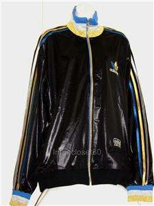 62 TRACK TOP RIBBED JACKET MENS WOMENS BLACK/GOLD/SILVER/BLUE