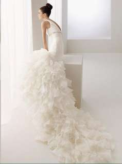 Beautiful V Neck Layers Wedding Dress 2012 Bridal Gown Drop Waist Free