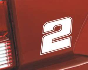 Nascar Racing Number #2 Decal Sticker   HOT