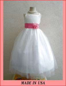 NEW FLOWER GIRL BRIDESMAID PAGEANT DRESSES IVORY GUAVA