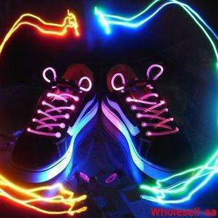 LED Light Up Shoelaces Flash Lite Glow Stick Neon J