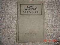 1922 1923 Ford Car and Truck Owners Manual Original