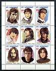 SAINT VINCENT 1991 JOHN LENNON   BEATLES MINT COMPLETE SET OF 9   $12