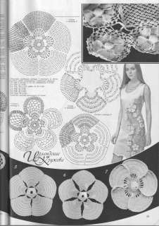 Dress Patterns on Hairpin Ribbon Irish Lace Crochet Patterns Top Cardigan Shawl Book