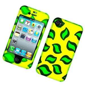 Neon Green Leaf Design Snap on Hard Skin Shell Protector