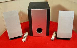 F10 Mini Executive Stereo System Subwoofer & 2 Wall Mount Speakers WOW