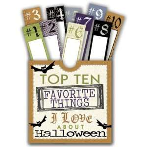 Halloween   10 Things Pocket with Glitter Accents Arts, Crafts