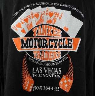 Harley Davidson Yankee Motorcycles Traders Las Vegas NV T shirt 4XL