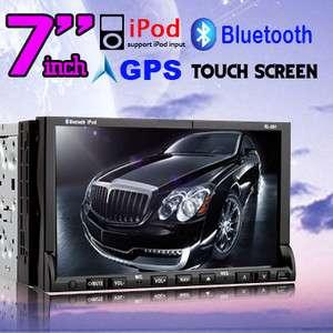 GPS NAV Double 2 Din HD 7In Dash Car Stereo DVD/Radio Player iPod
