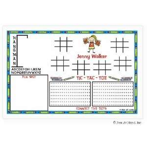 Hand Stick Figure Personalized Placemats   (Activity) Home & Kitchen