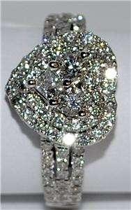 Engagement Ring Wedding Ring 1ct 14K White Gold Heart Shape SI/G
