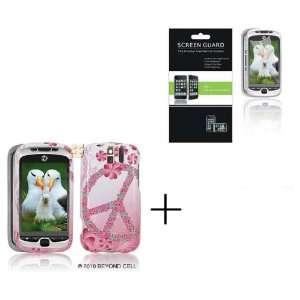 HTC MYTOUCH SLIDE 3G Flower Peace Premium Designer Hard Protector Case
