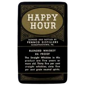 Happy Hour Blended Whiskey 28X42 Canvas
