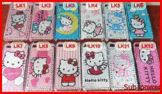 6x Hello kitty Bling Back Case cover for iphone 4 4th
