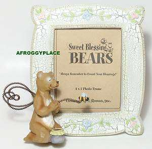 Sweet Blessings Angel Bear & Bumble Bee Picture Photo Frame New in