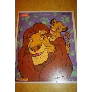 Disneys The Lion King Mufasa and Simba Playskool Wood Style Puzzle (8