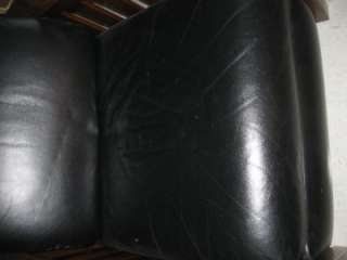Ethan Allen Impressions Mission Cherry Woodstock Black Leather